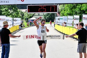 Ethan Brown Wins the Innaugual Ribfest 5 Miler