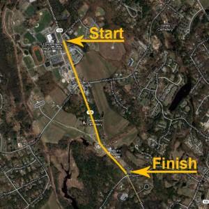1 Mile Downhill Course