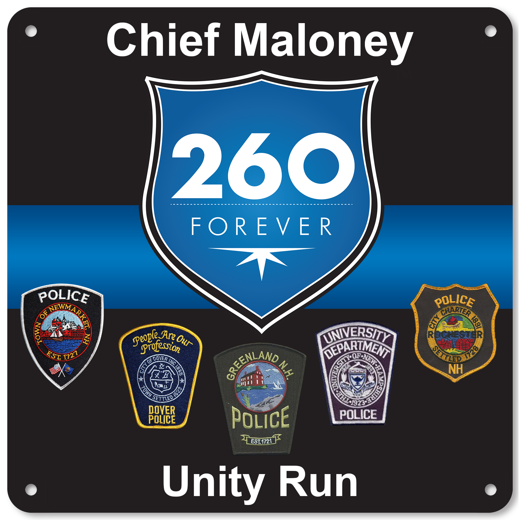 BIB NUMBERS: 2014 Chief Maloney Unity Run