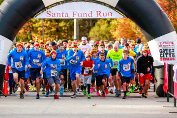 PHOTOS: Santa Fund Run 2014